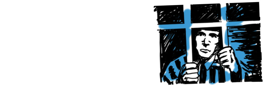 gevangene blauw